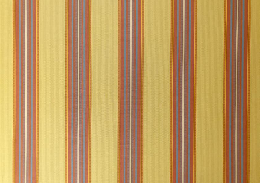 König Storenstoffe Liquidationen – Storen Stoff gelb bunt gestreift – L-2011